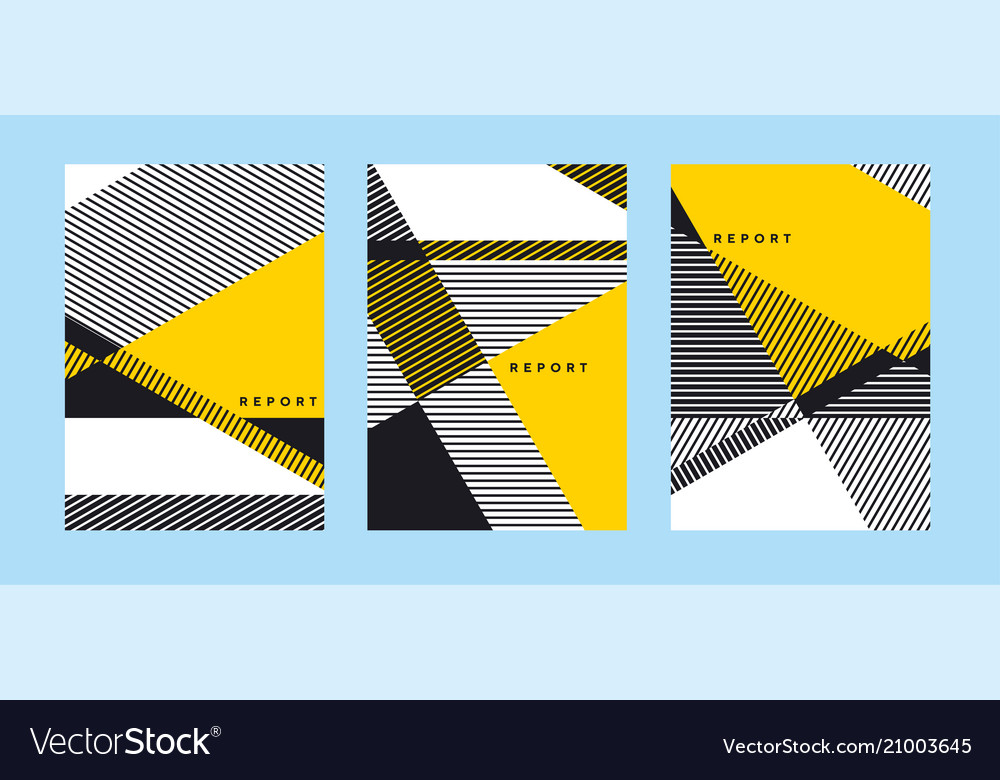 Geometric cover template with stripes