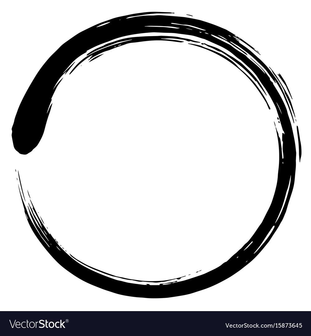 Minimalistic enso zen circle vector image