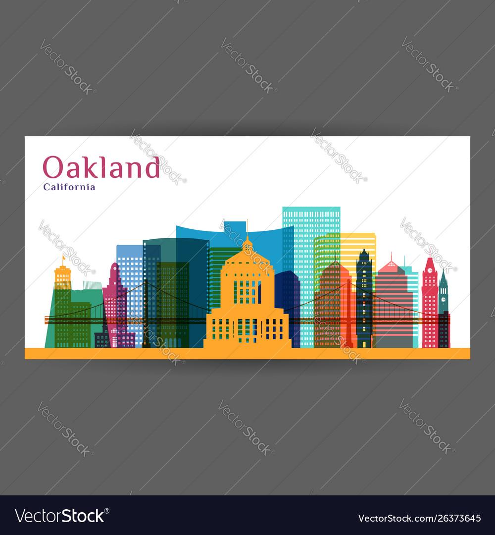 Oakland city california architecture silhouette