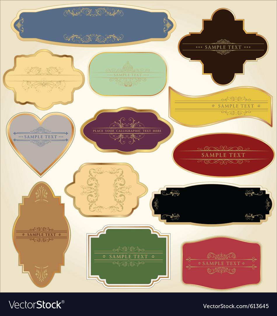 Pastel vintage labels