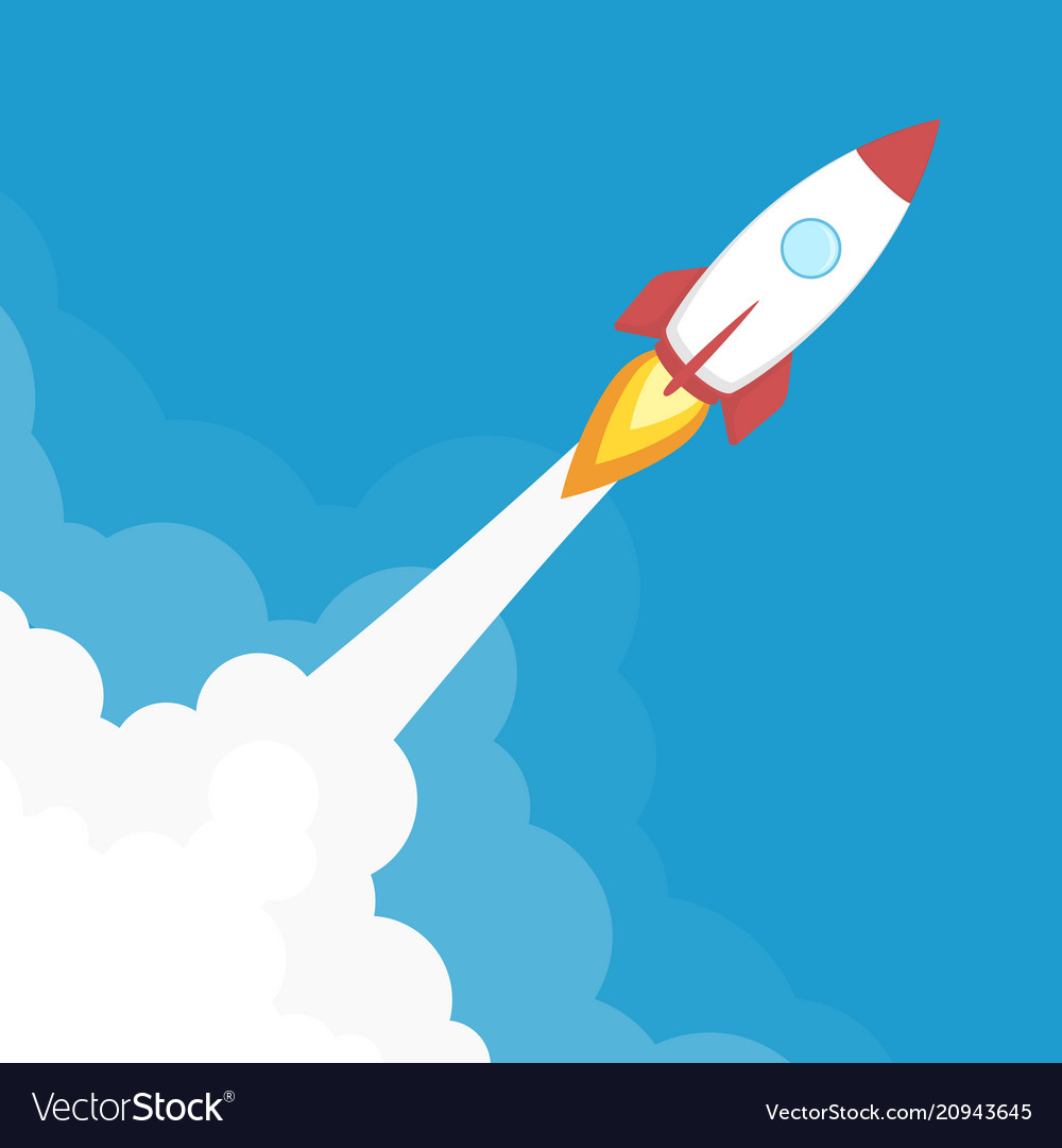 Rocket launch banner