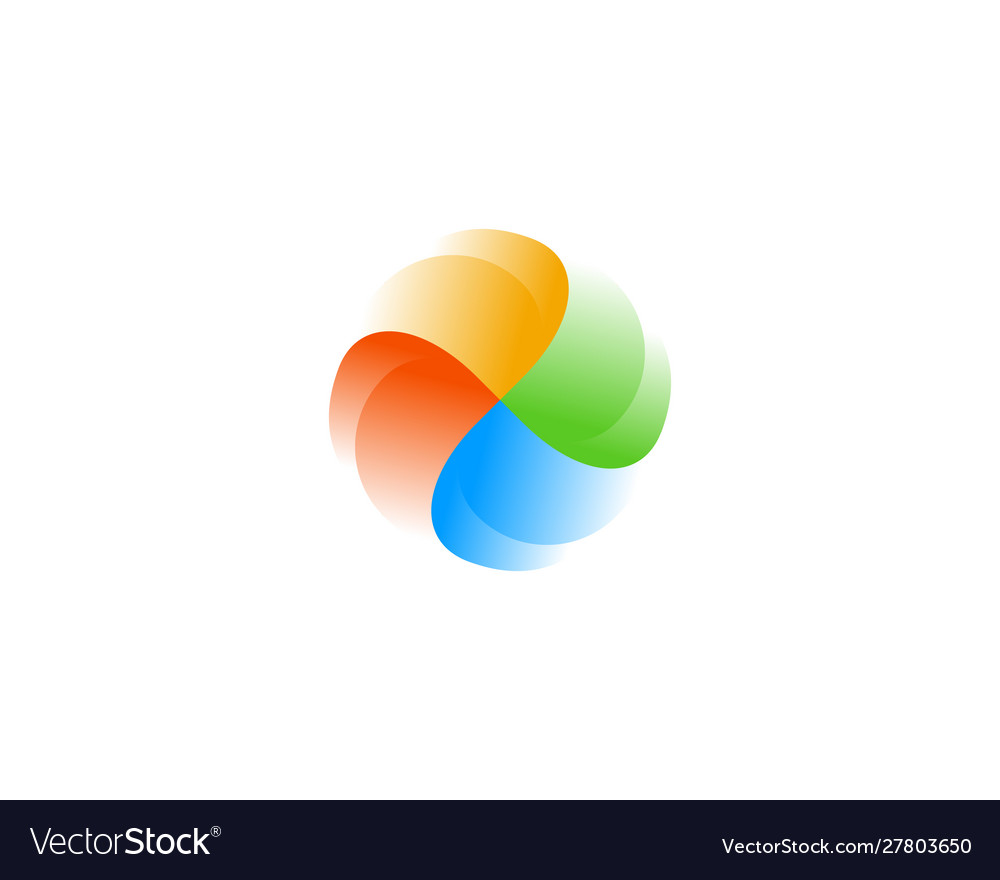 Abstract swirl logo icon design abstract modern