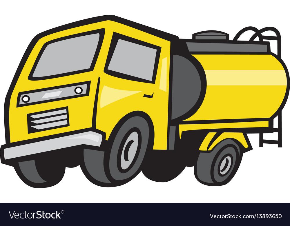 Baby fuel tanker cartoon vector image