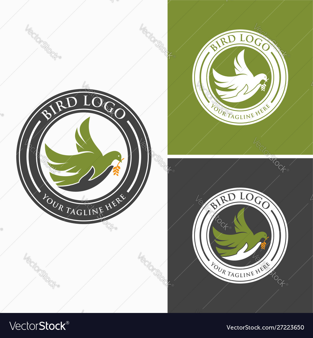 Bird hand logo images vector