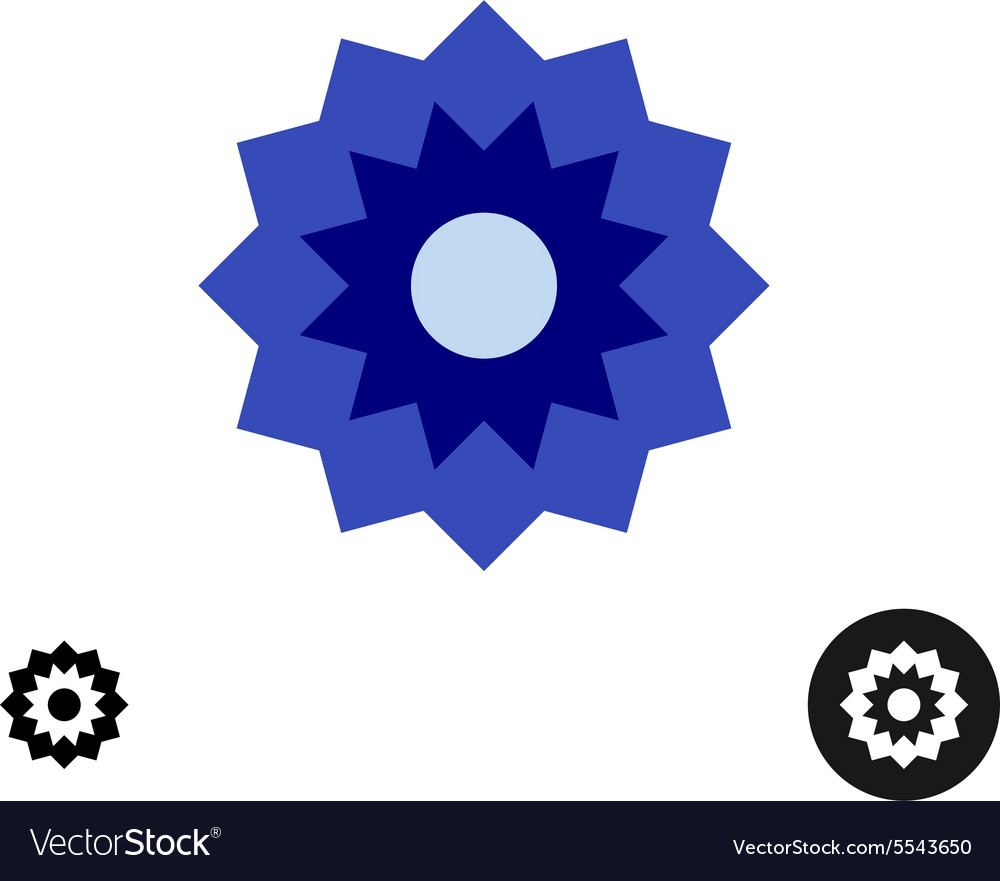 Cornflower simple geometric logo