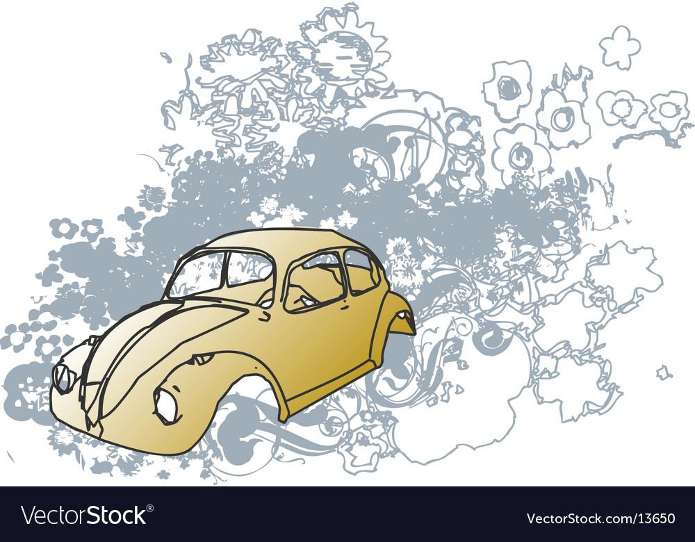 Groovy bug illustration vector image