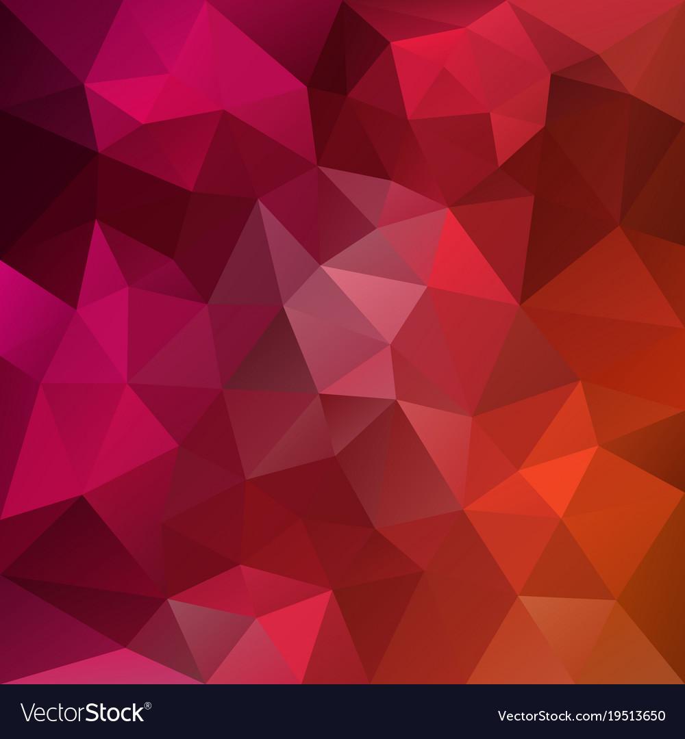 Polygonal square background hot pink orange vector image voltagebd Image collections