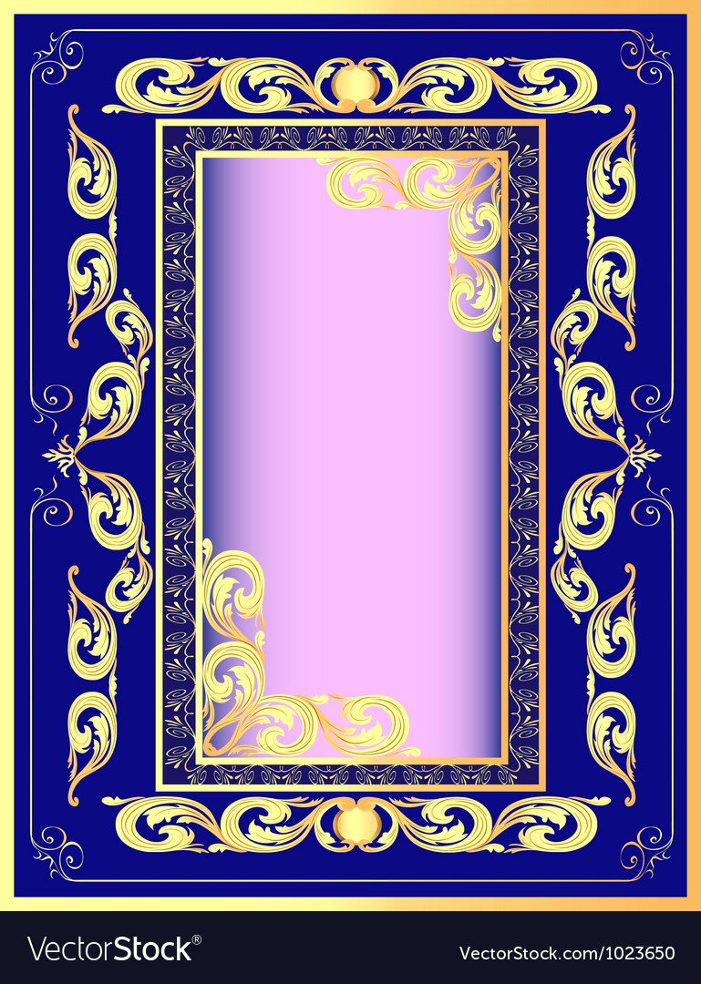 2649f4125288 Vintage Golden Frame Royalty Free Vector Image