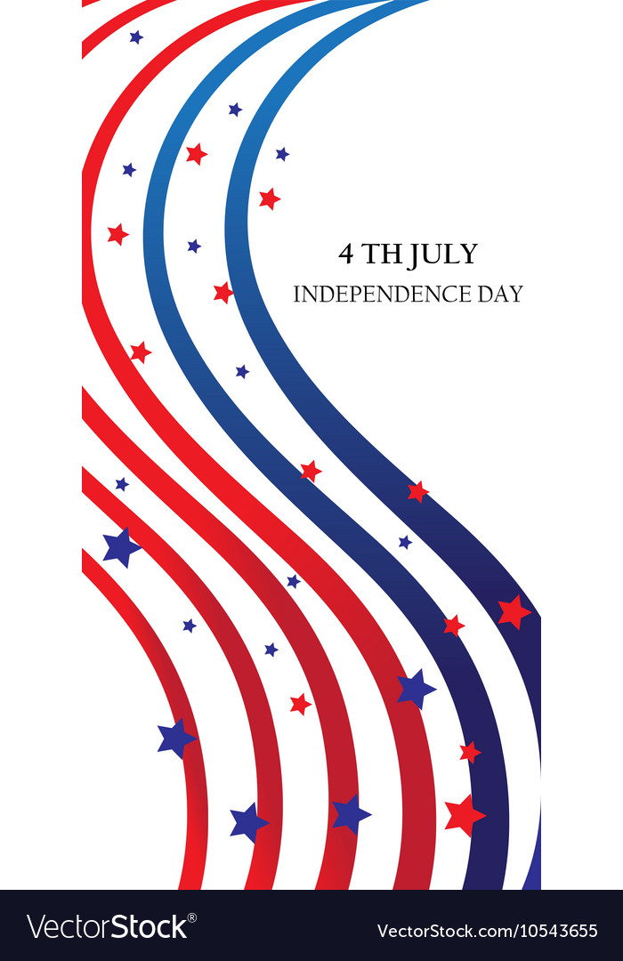 Abstract ribbons flag banner July 4 Independence