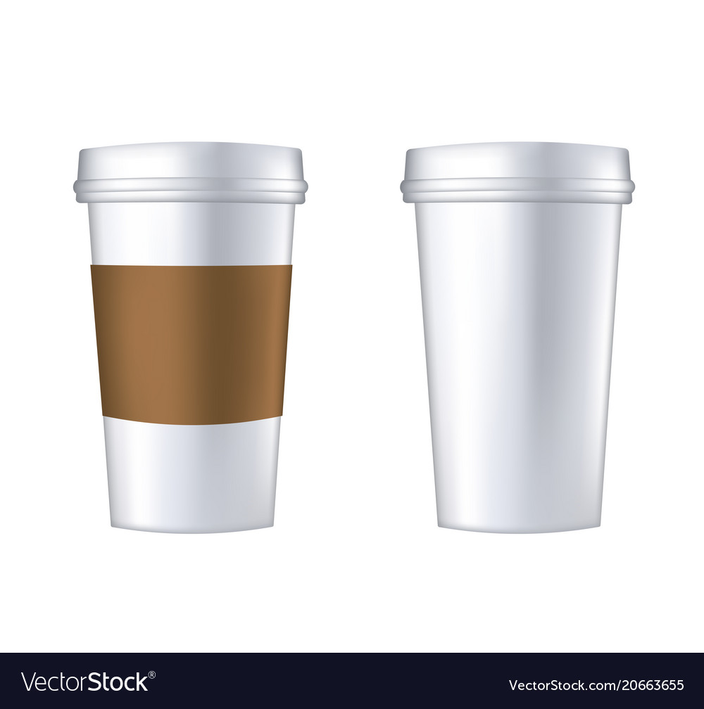 disposable coffee cup template royalty free vector image