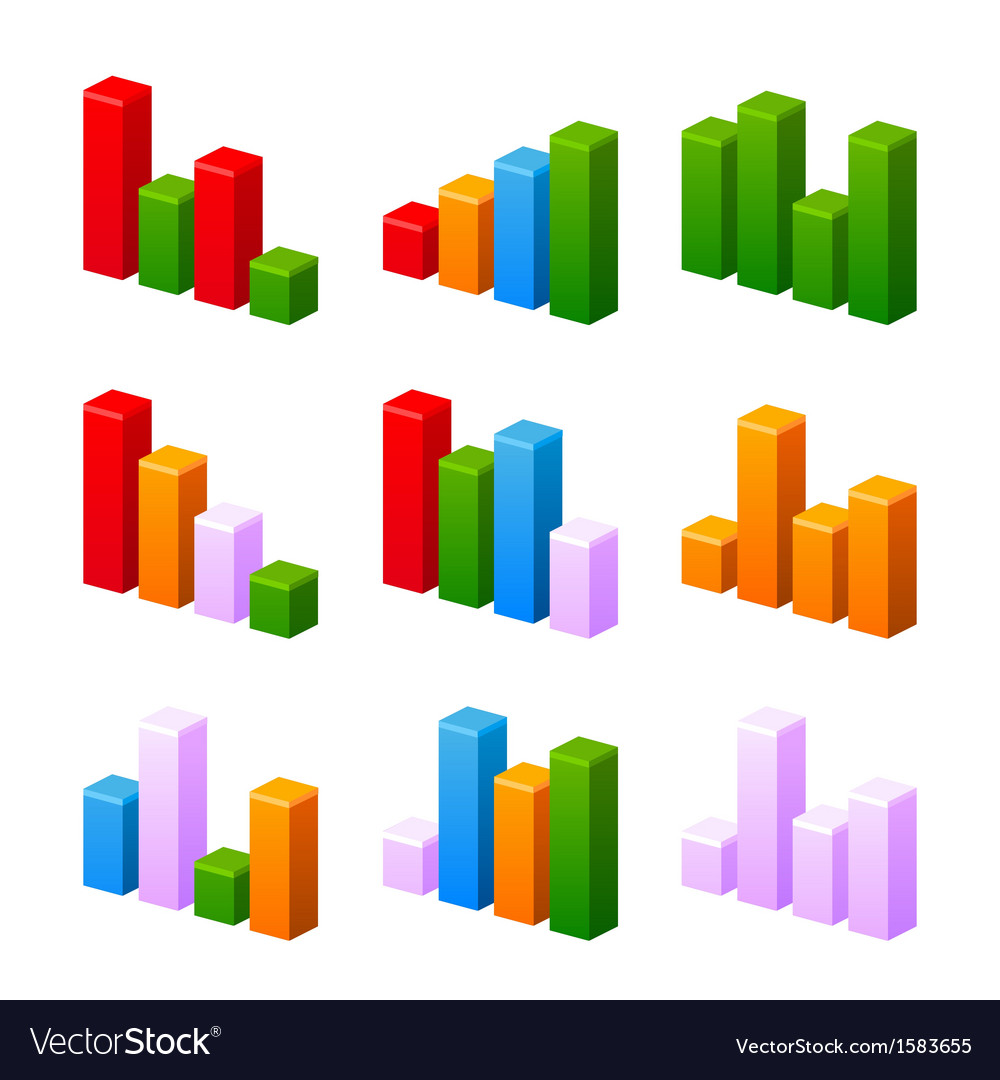 Infographic set with colorful charts