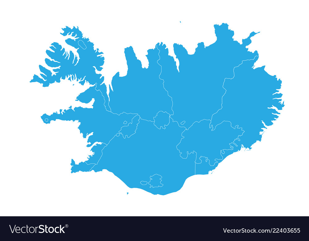 Map of iceland high detailed map - iceland