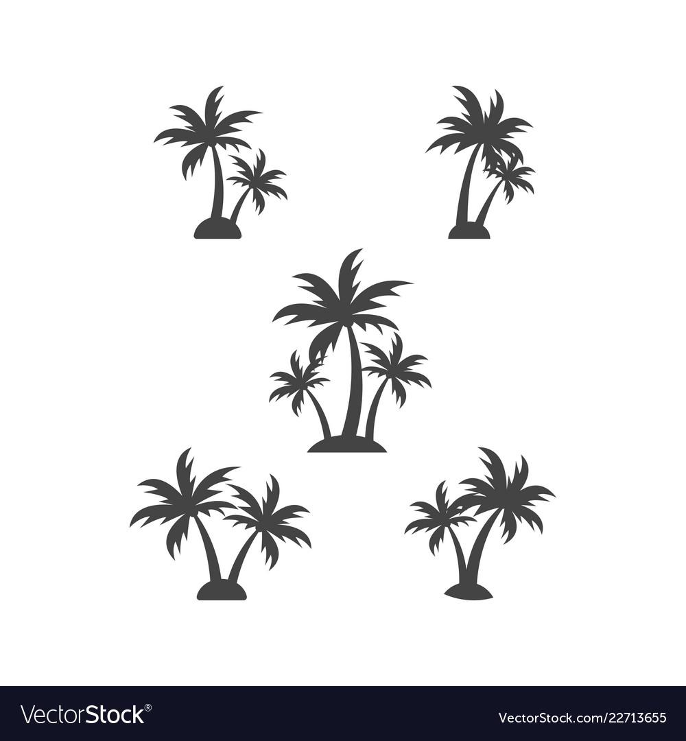 Palm tree silhouette graphic design element