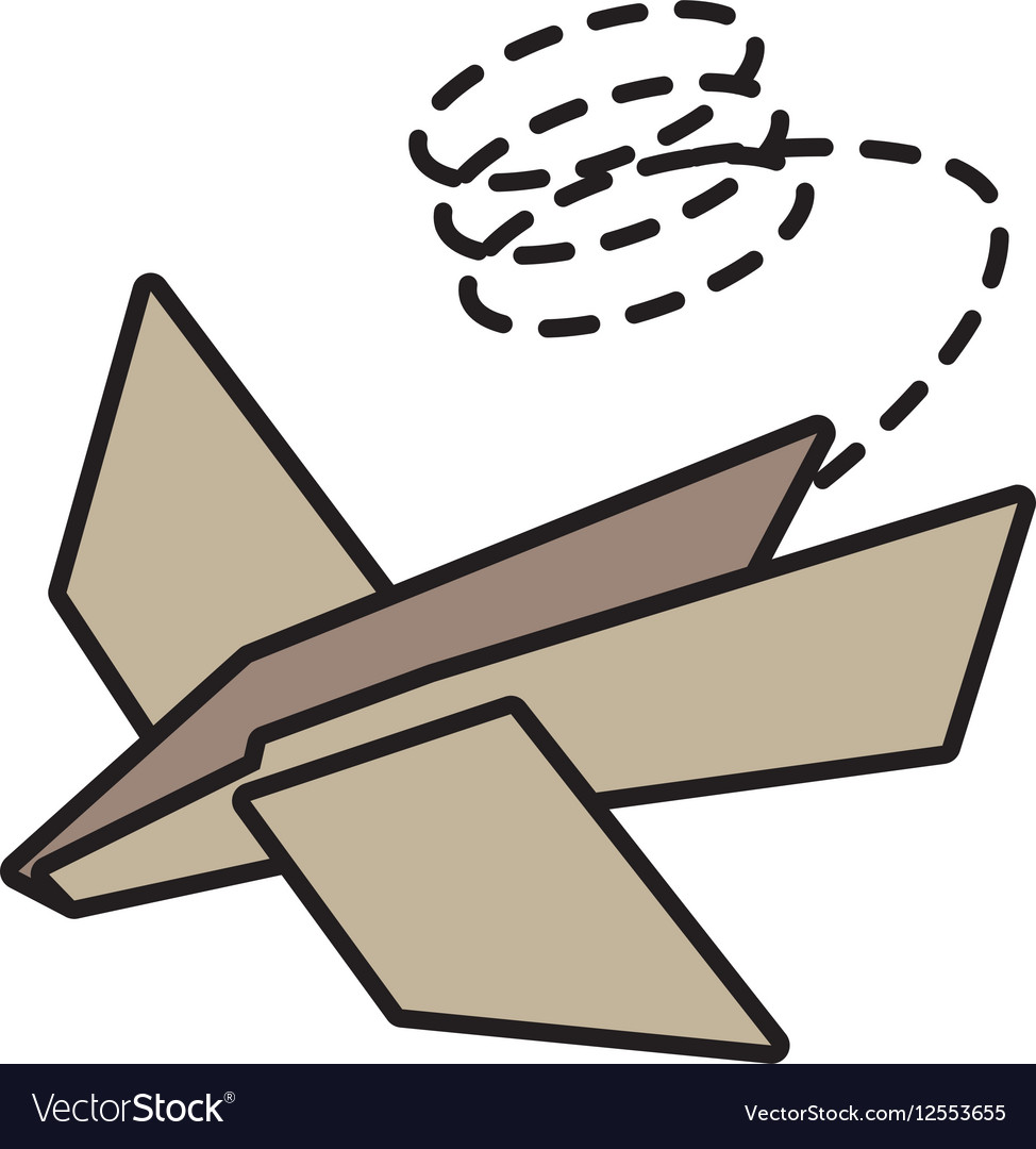 Paper plane idea innovation up line dotted vector image