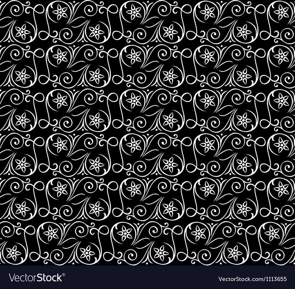 Seamless pattern black white
