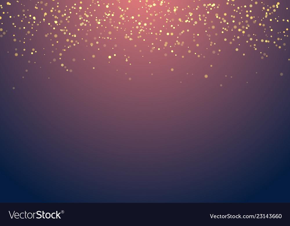 Abstract falling golden glitter lights texture on
