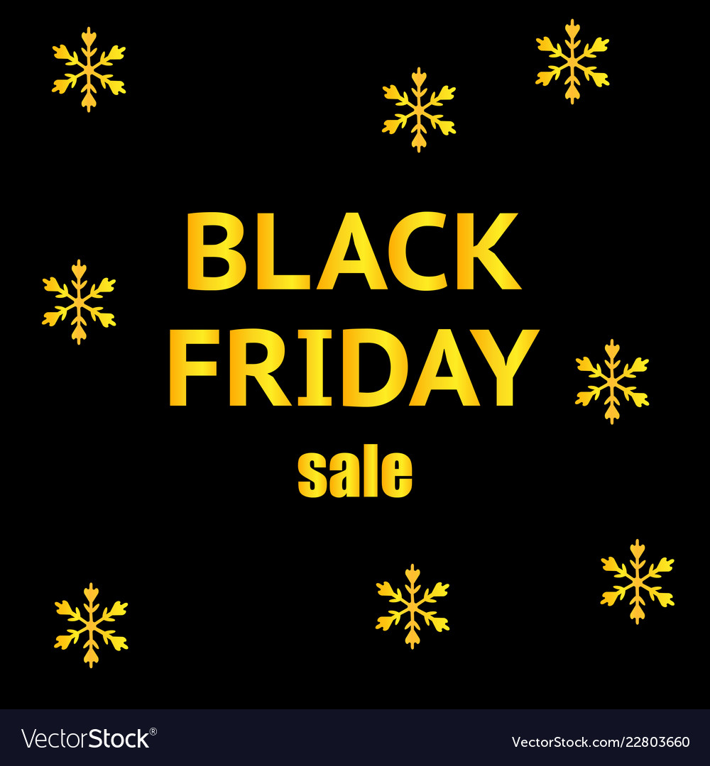 Black friday sale banner with snowflakes design