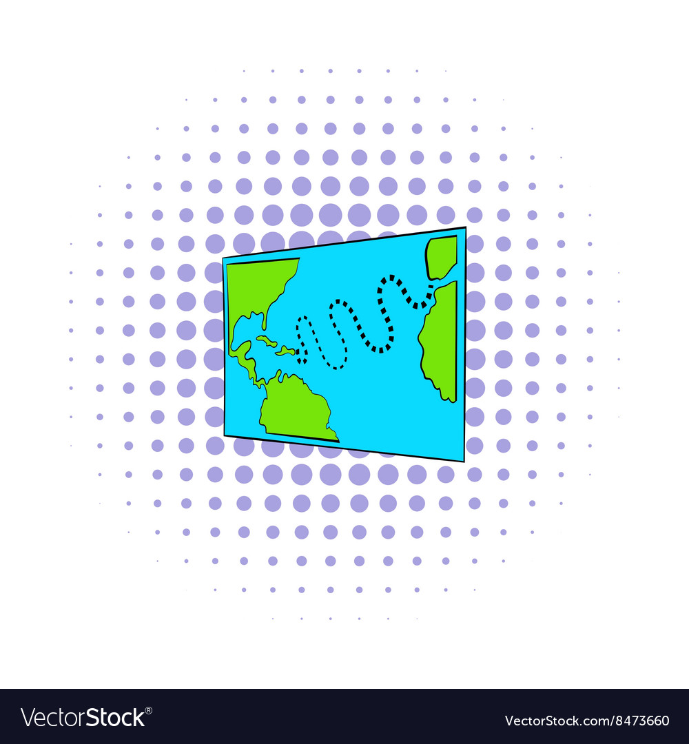 Christopher Columbus first voyage map icon vector image