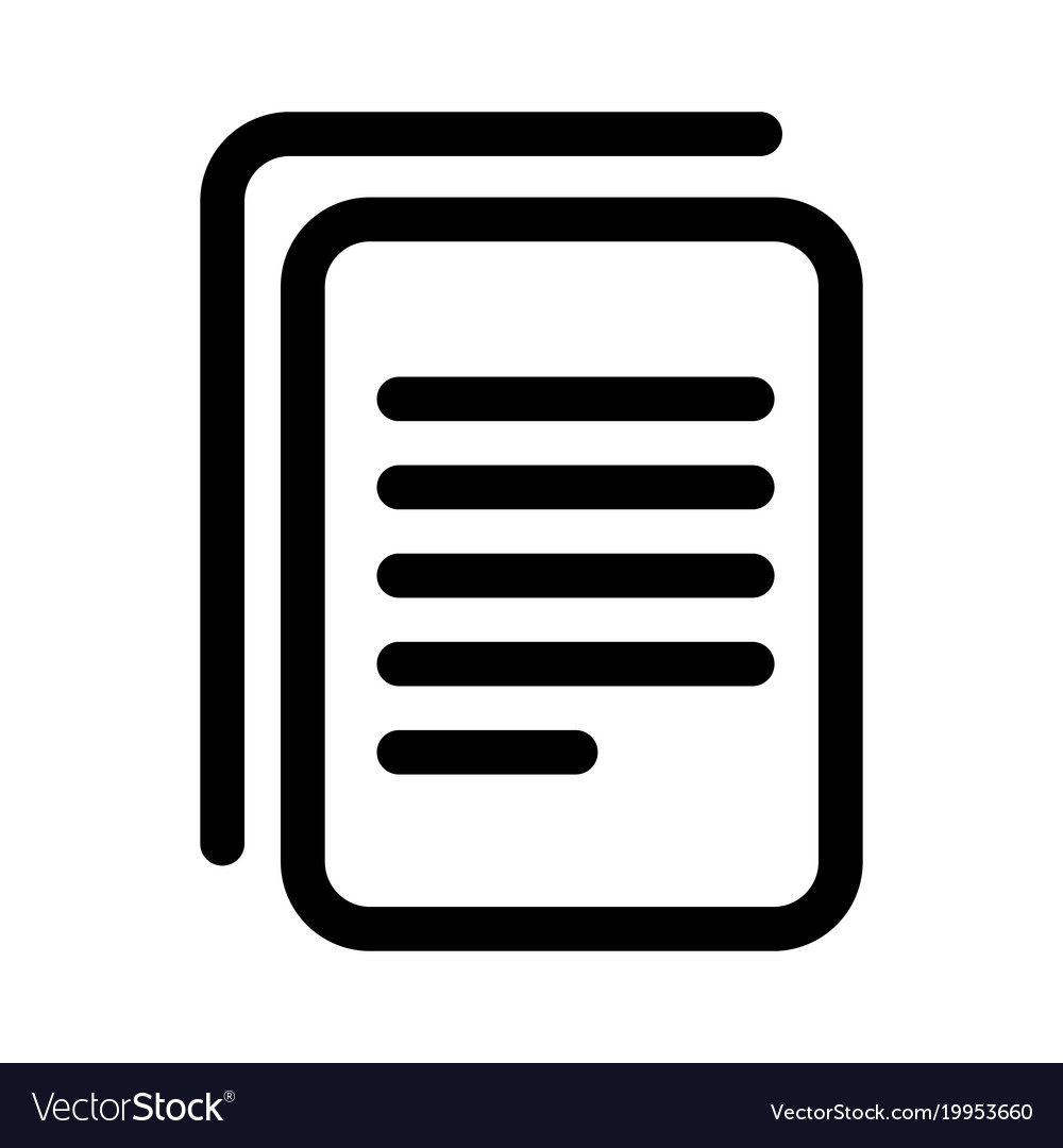 Document copy icon sheet of paper with text