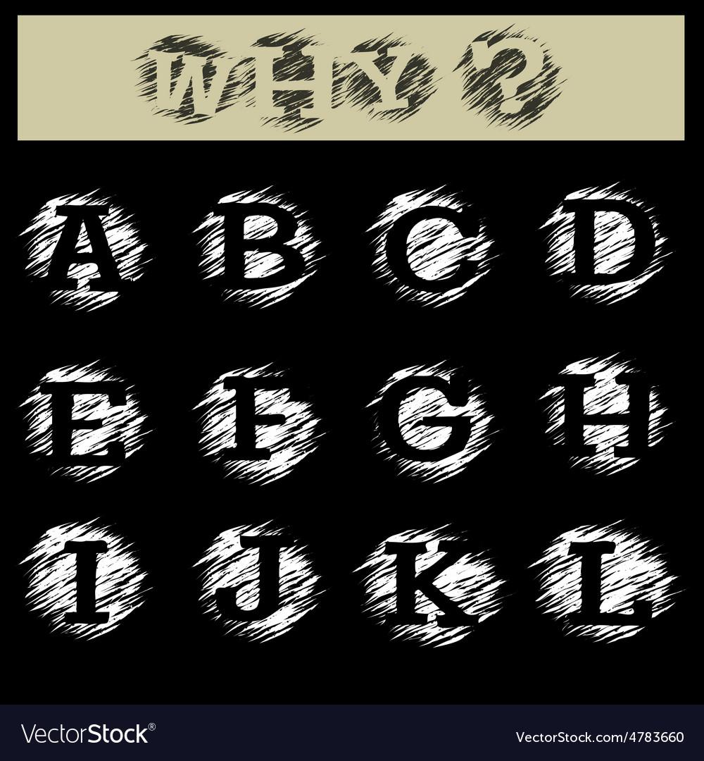 Grunge Alphabet A to L