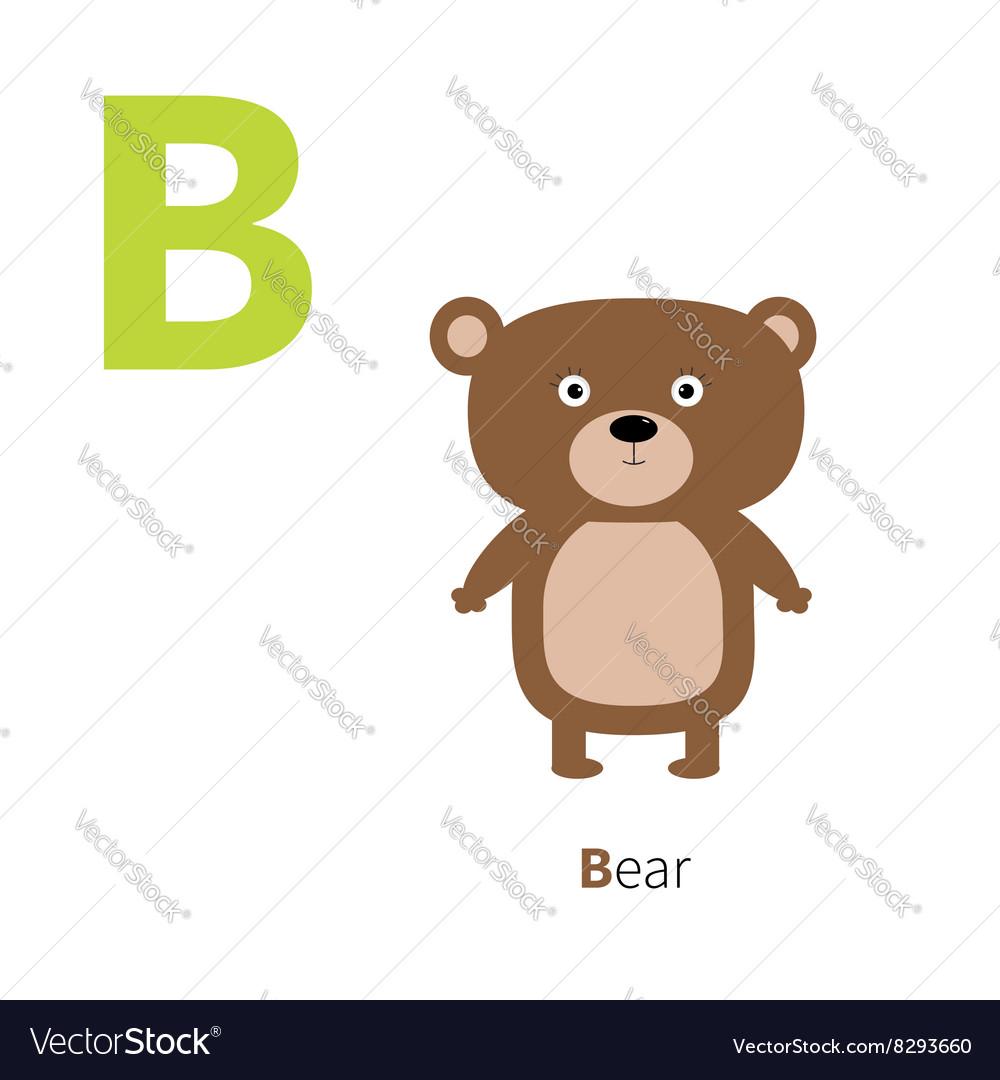 Letter B Bear Zoo alphabet English abc letters