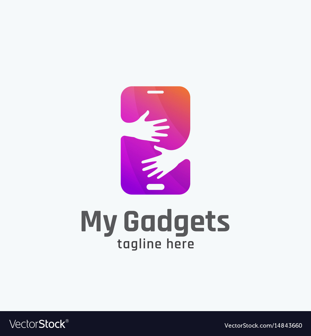 My gadgets abstract sign emblem or logo vector image