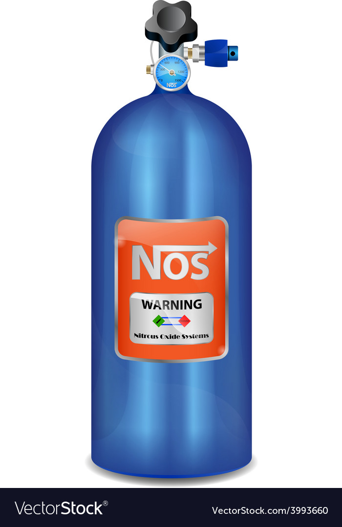 Nitrous Oxide System Nitro Boosts NOS Royalty Free Vector