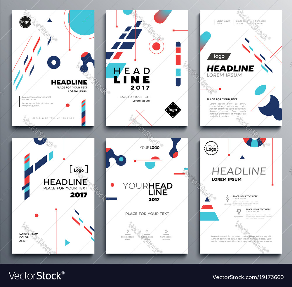 presentation booklet cover template a4 vector image