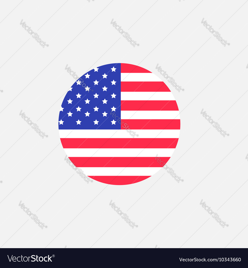 round circle shape american flag icon star and vector image rh vectorstock com US Flag Vector Black US Flag Vector Graphic