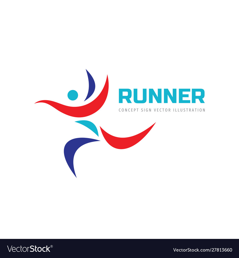 Runner human - concept business logo design sport