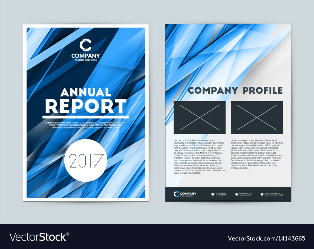 Annual report cover design template flyer design