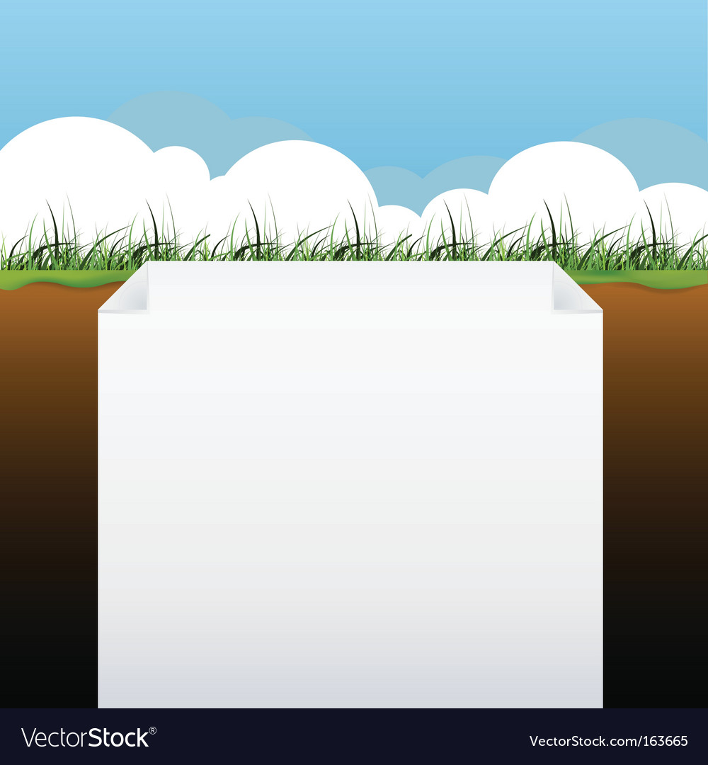 Blank page with grass banner