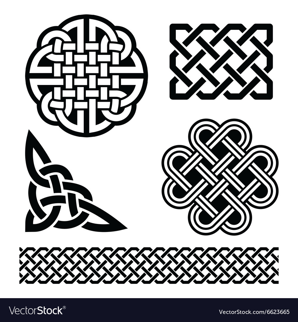Celtic knots braids and patterns