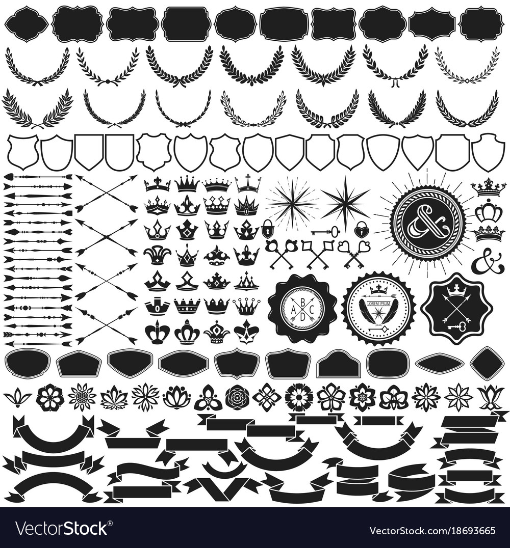 Design elements collection for crest making