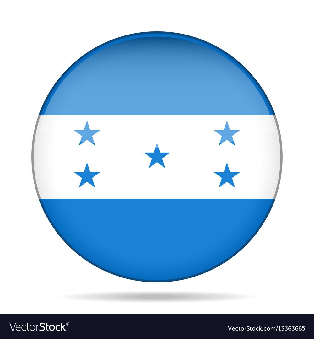 Flag of honduras shiny round button