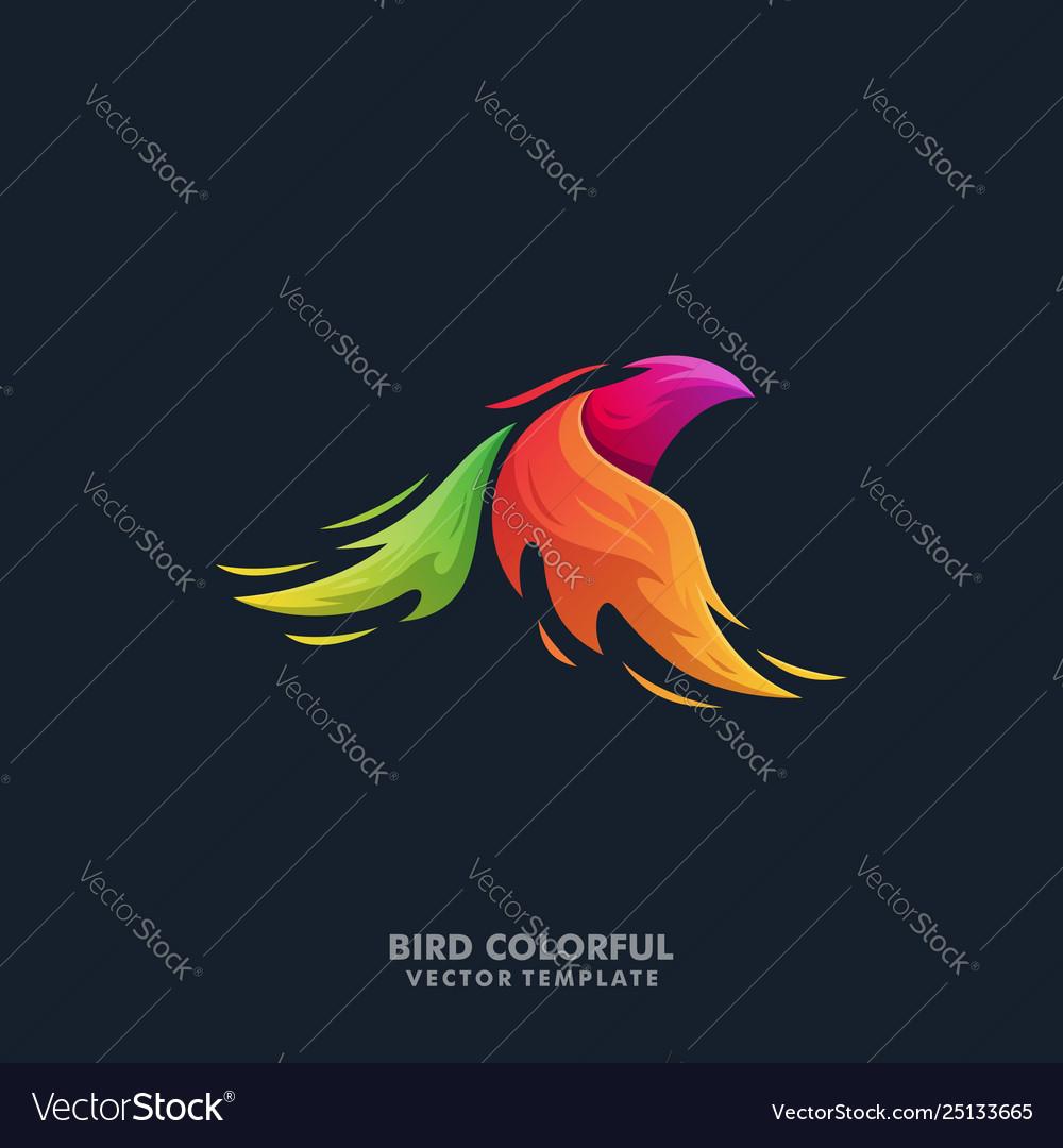 Phoenix bird colorful template