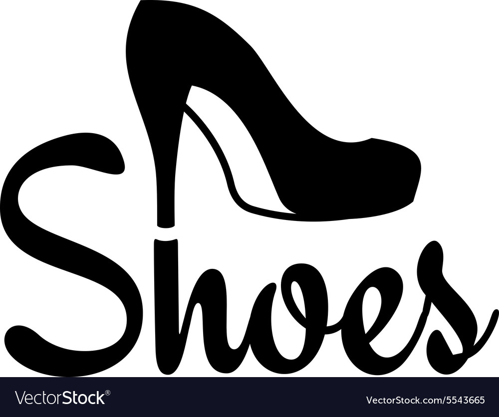 shoes logo vector image