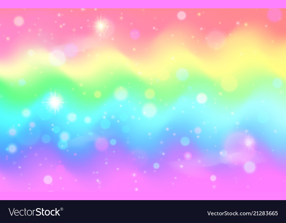unicorn rainbow wave background mermaid galaxy vector 21283665