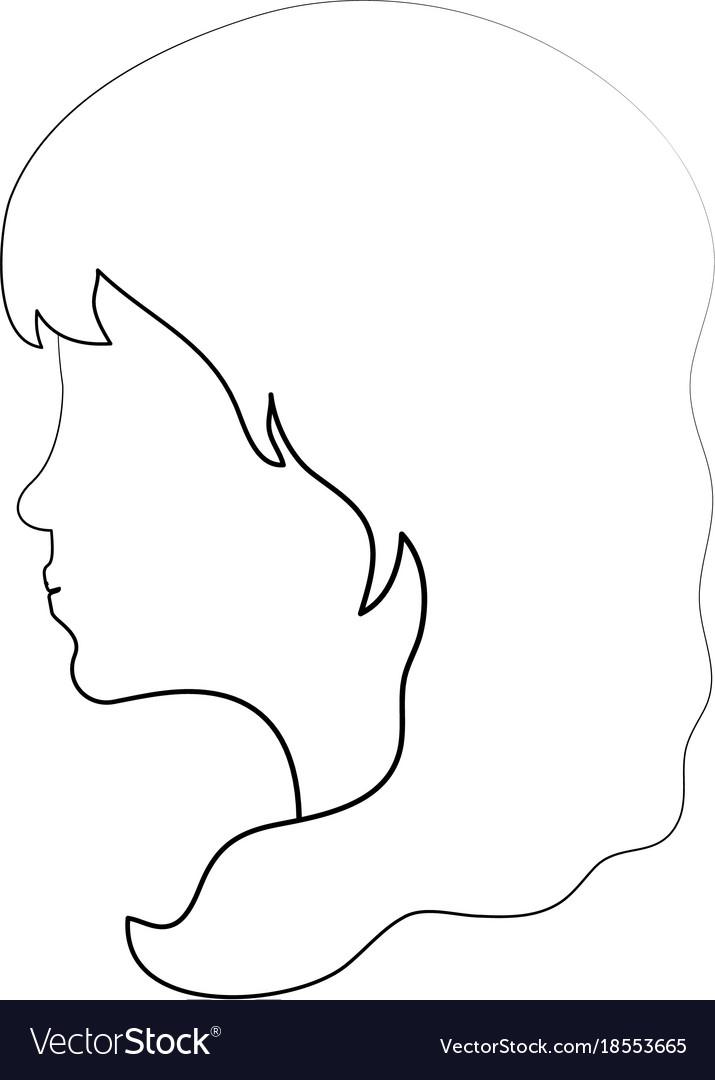 Woman head silhouette