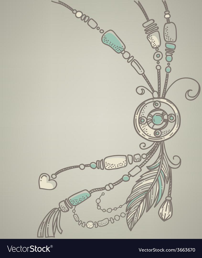 Boho background vector image