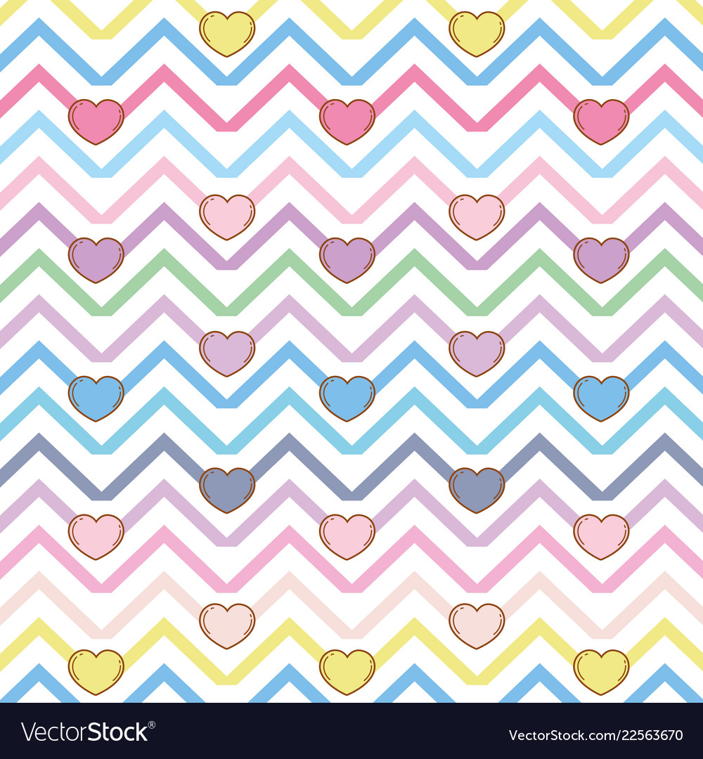 Chic hearts background