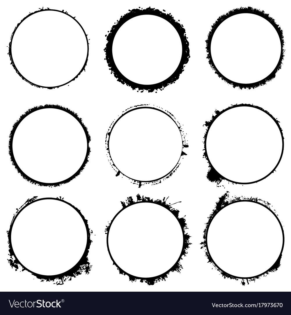Circular Frames Set Royalty Free Vector Image Vectorstock
