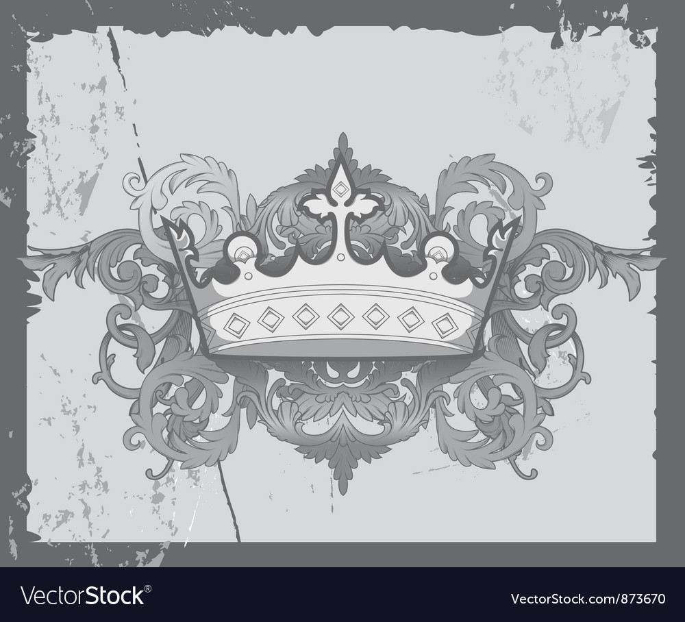 Crown with baroque floral