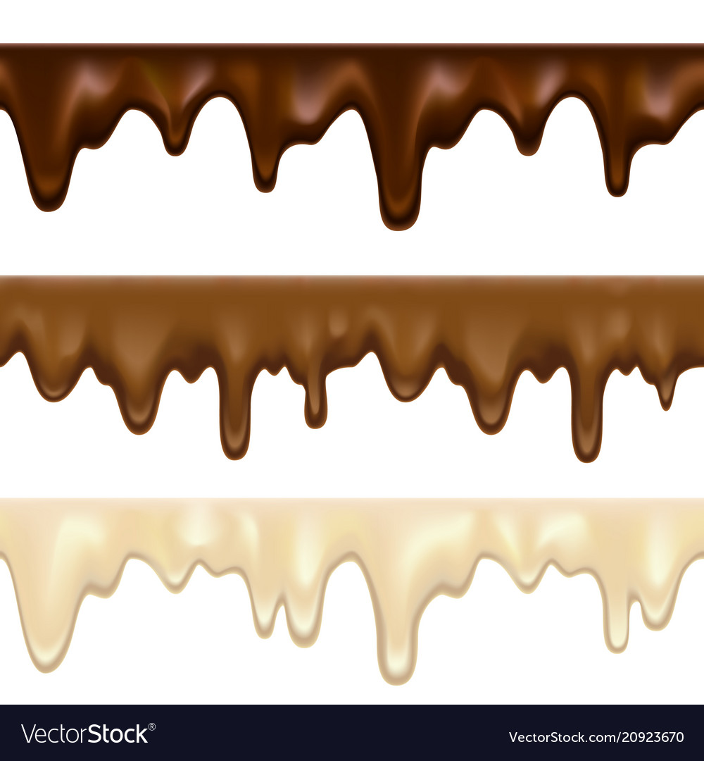 Dripping white chocolate melt