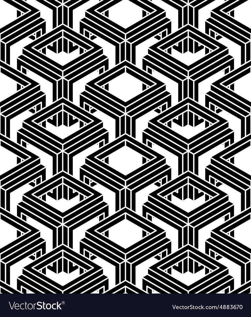 Endless monochrome symmetric pattern graphic