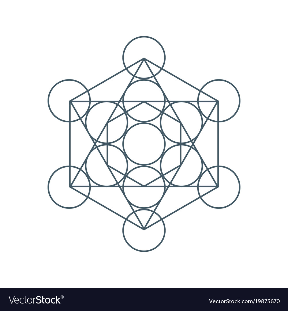 Flower Of Life Sacred Geometry Symbol Of Harmony Vector Image