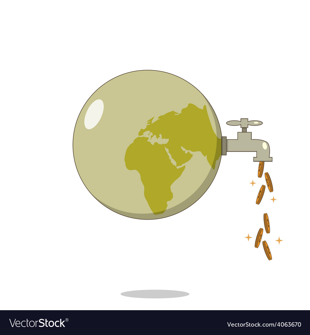 Isolated cartoon dirty planet for cash flow