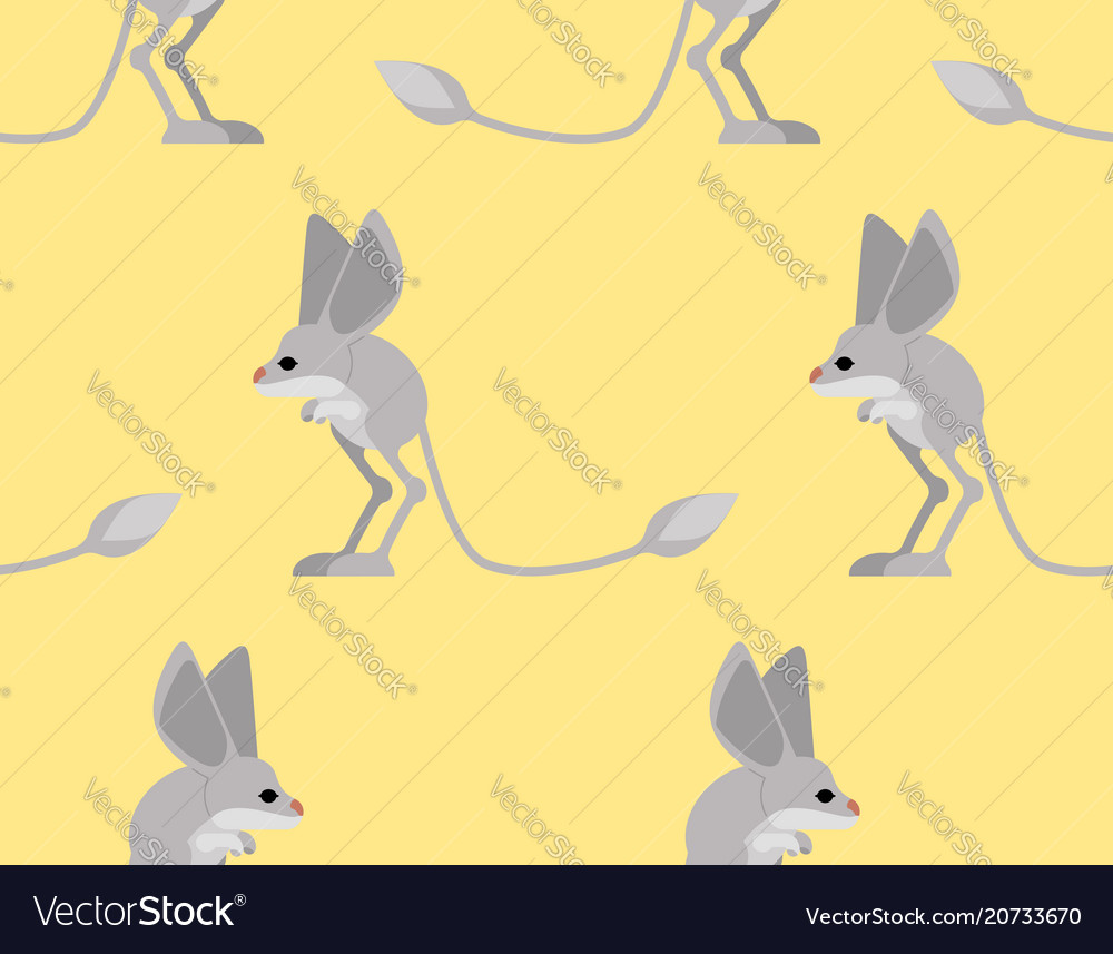Jerboa pattern steppe animal background wildlife