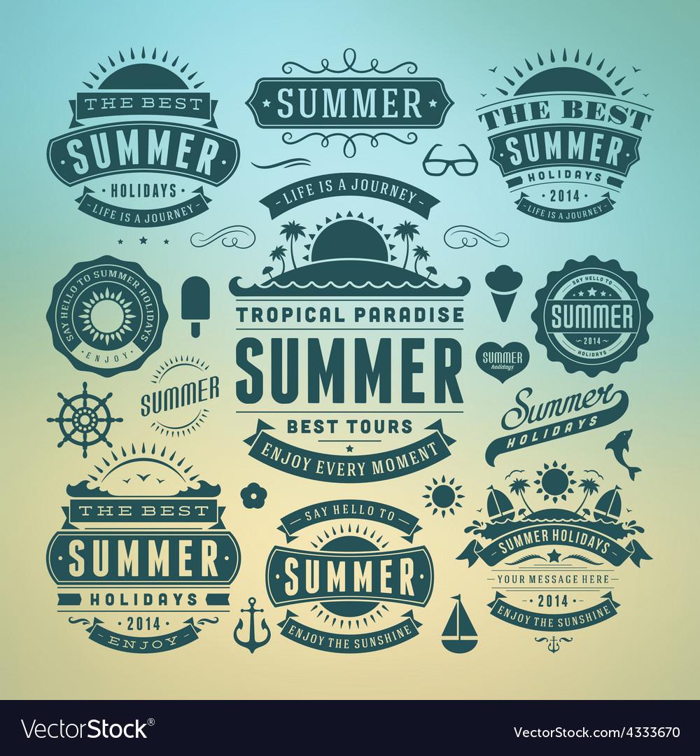 Retro summer design elements