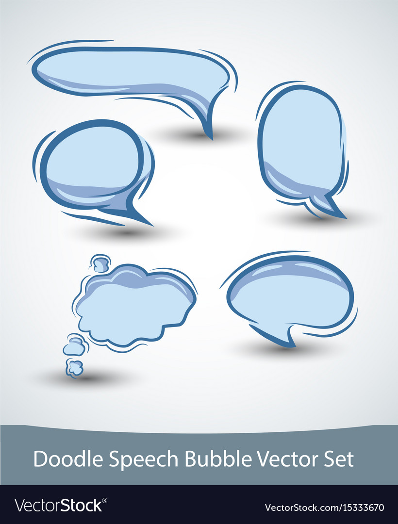 Speech bubble set on white background